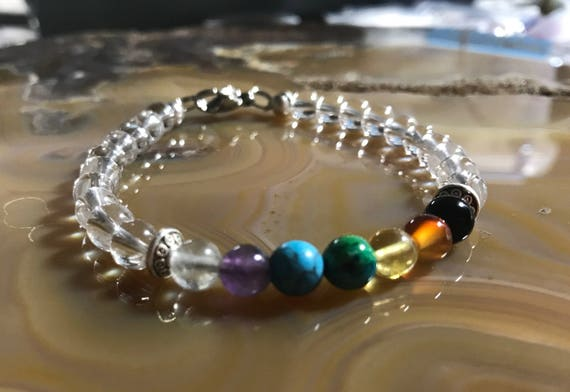 Master Healer Quartz Chakra Bracelet