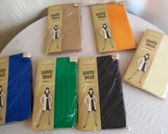 Vintage Fishnet Stockings 1960s Mod Deadstock New in Package Choice of Color