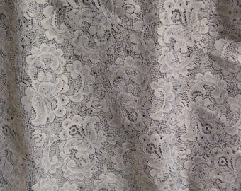 Five Vintage Lace Curtain Panels-56 x 76 inches