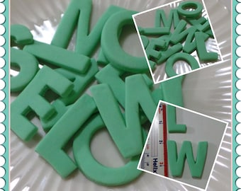 Edible Fondant LETTERS decorations for your Cake, Cupcakes, cookies or Cake Pops - You choose the colors