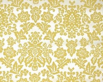 Retro Flock Wallpaper by the Yard 70s Vintage Flock Wallpaper - 1970s Gold Flock Damask