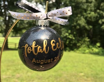 Total Eclipse 2017 ornament, Eclipse Across America, Totality, Eclipse Ornament, Eclipse Gift
