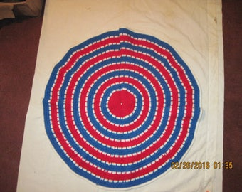 Circle of Love Laptop Blanket -Red Center, White & Blue