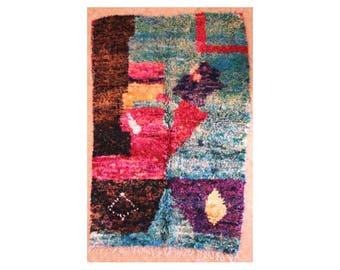 "210X145 cm 6'10"" x 4'9""      TC29259  boucherouite , boucharouette,  moroccan rugs , berber rugs, morocco carpets"