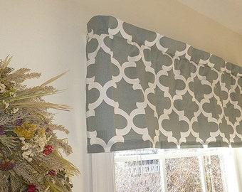 Flat Curtain, Flat Window Valance, Flat Valance Window Treatment, Made to Order Flat Valances, 52 x 16 Curtain, Flat Kitchen Curtains Room