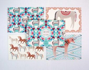 Postcard Book - Unicorns