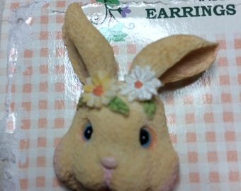 Bunny Pin and Earring Set