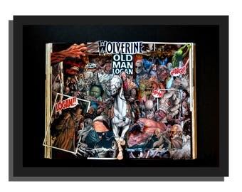 Wolverine: OLD MAN LOGAN Graphic Novel Book Sculpture 12x16x3 - Free Shipping