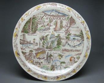 vintage Vernon Kilns souvenir plate for California