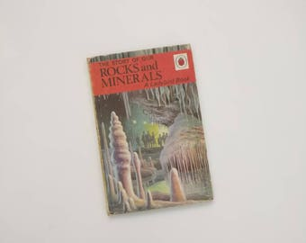 Rocks and Minerals Notebook - Handmade from a vintage Ladybird book