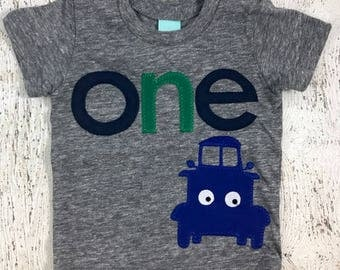 Little blue truck shirt, Little blue truck Birthday, Truck Party, vintage truck, pick up truck, boy's birthday shirt, truck shirt