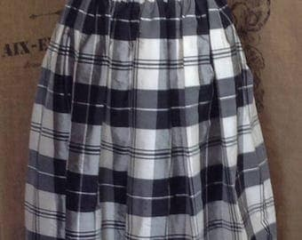 Laura Ashley maxi full length formal pleated silk skirt