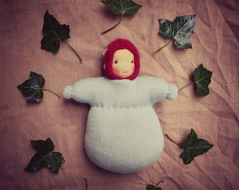 Pure wool, Children of the forest, Waldorf doll, cuddle doll, made from completely natural materials