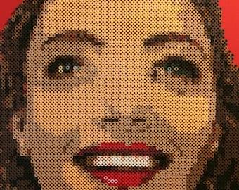 Becky Briggs   Twin Peaks Portrait #11   Amanda Seyfried Portrait   Twin Peaks Fan Art   16x20 Canvas