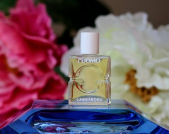"Vintage 1990s Perfume for man ""L'Uomo"" by  Gherardini Eau de Toilette 5ml Splash Mini Travel size Bottle Collectible"