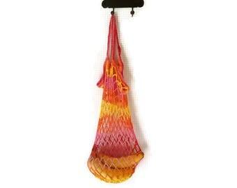 Crochet grocery bag market bag reusable market bag shopping bag shopping tote crochet market bag market tote bag