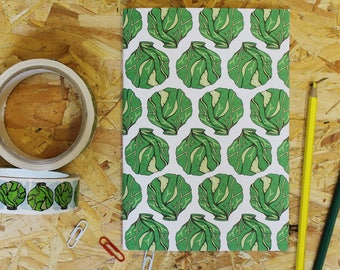 Christmas Sprout Notebook - blank notebook - A5 notebook - vegetable notebook - notebook - gardeners notebook - gifts for gardeners -