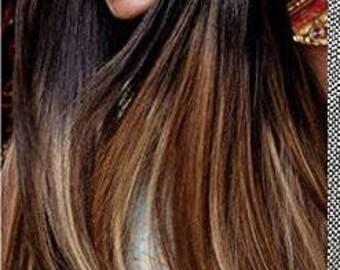 Items similar to full set natural ombre hair extensions bundle natural ombre hair extensions human hair extensions colored hair extension clip hair wefts pmusecretfo Choice Image