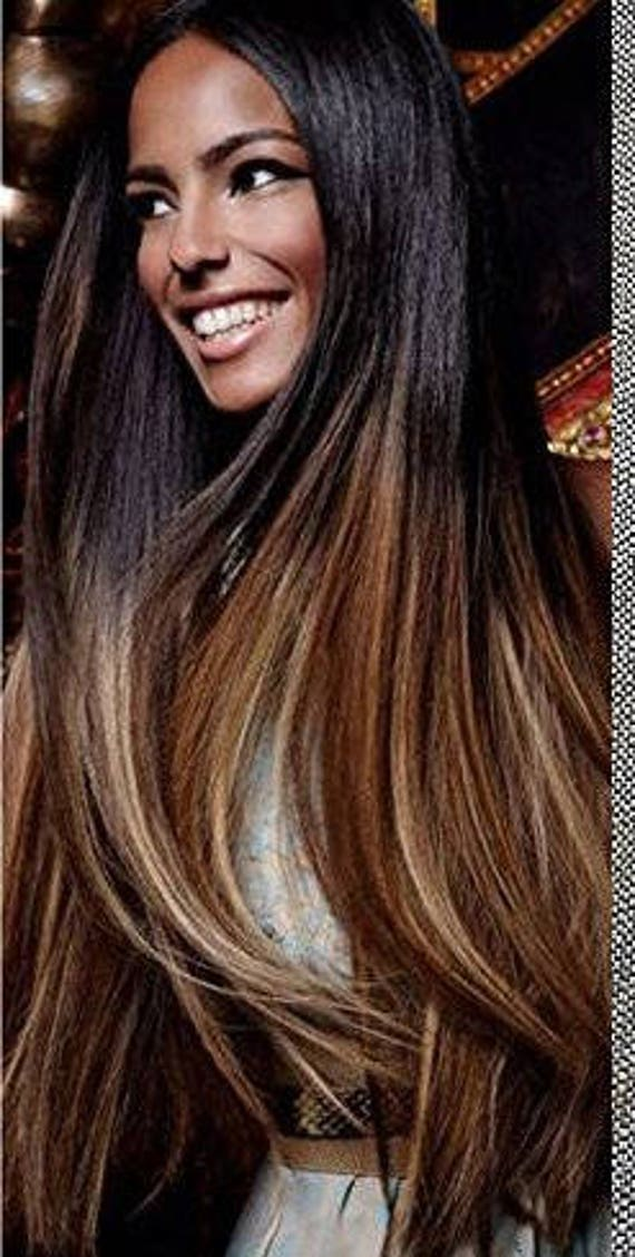 Natural ombre hair extensions human hair extensions colored like this item pmusecretfo Choice Image
