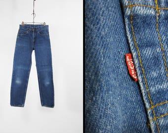Vintage Levi's 505 Jeans Dark Denim Red Tab Made in USA Straight Leg - 28 x 30