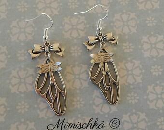 earrings butterfly dragonfly wings