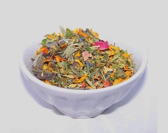 RAW Sun Dried Fairy Tea Blend - Culinary Herbal Flower Tea -  Organically Grown Hand Harvested - Edible Blossom Organic Food Raw Herbal Tea