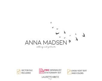 Photography Logo Design - Instant Download -Typography DIY Logo Template.Custom Logo Design. Jewellery Logo. Premade Logo. - ANNA MADSEN