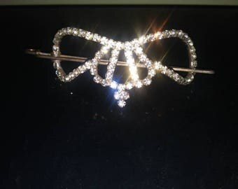 Rhinestone hair holder for bun or up do