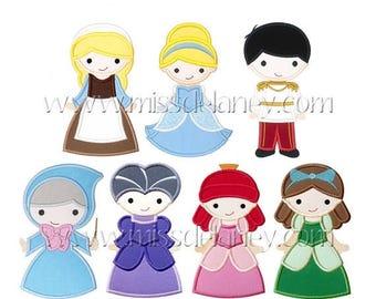 ON SALE Cinderella Applique Designs