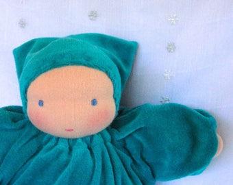 Waldorf weighted baby doll // heavy dolly // waldorf toy // Steiner doll // cuddle doll // textile doll // cloth doll // sensory doll