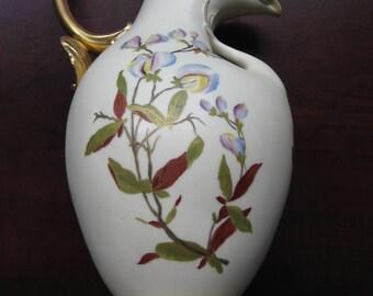 Antique Decorative Porcelain Pitcher Gold Gilding Hand Painted