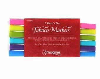 One Set of Six Fabrico Marker Set Gemstones Colors # PF-6-GEM