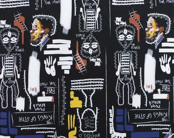 C365 - 140cmx100cm  Cotton Poplin Fabric - Kings of Style From Africa