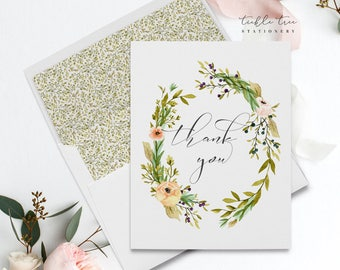 Folded Thank You Note Cards - Mountainside Meadow (Style 13751)