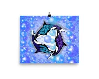 ORCAS CIRCLE Poster