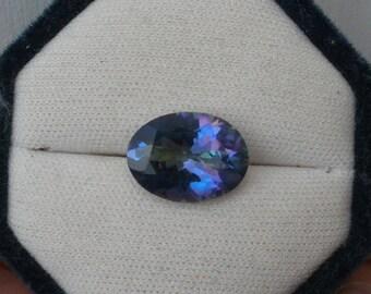 Rainbow Blue Mystic Quartz Oval Gem 16 x 12mm