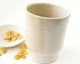 Farmhouse Style Tumbler | White and Vanilla Bean | White Tableware #WVBT-1