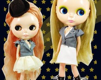 Clearance Sale - YAN - Grey Jacket Set for Blythe doll