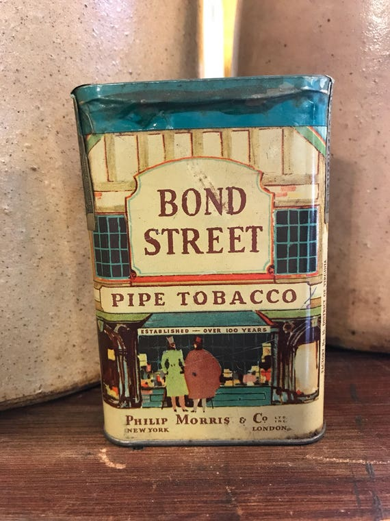 Bond Street Tobacco pocket Tin - Unopened w Tax Stamp Philip Morris New York London