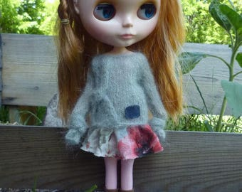 Long sleeves sweater for Blythe doll