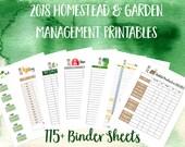 2018 Printable Homestead Management Binder and Garden Planner