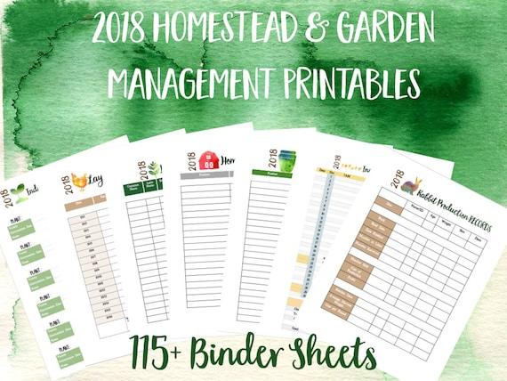 Calendar Planner App : Printable homestead binder and garden management planner