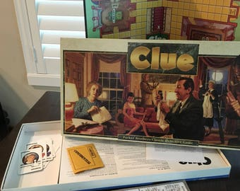 1992 CLUE Board game complete vintage family fun night