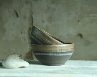 Soup bowl set of 3. Gift for granfather.