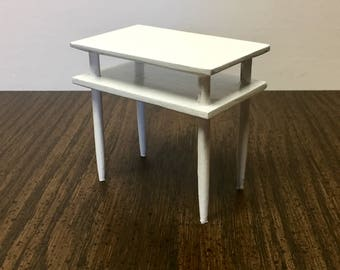 Barbie white table modern furniture for 1:6 scale dolls, diorama, dollhouse, action figure, blythe, silkstone,