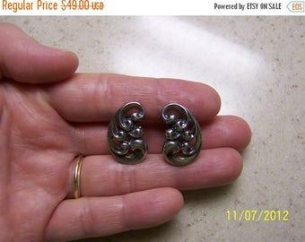 TWICE A YEAR, 25% Off Vintage Scroll Earrings. Sterling Silver.