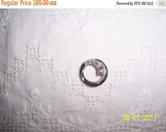 TWICE A YEAR, 25% Off Vintage Diamond Circle slide pendant. Sterling silver.