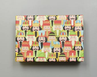 Nutcracker Faces Christmas Wrapping Paper, 2 Feet x 10 Feet - New for 2017