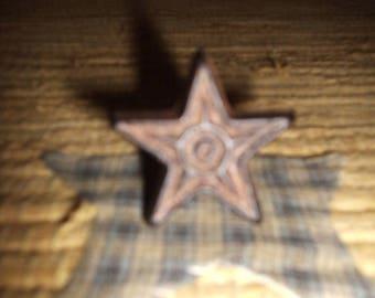 On Sale 6 Cast Iron Star Cabinet Knobs Drawer Pulls Primitive
