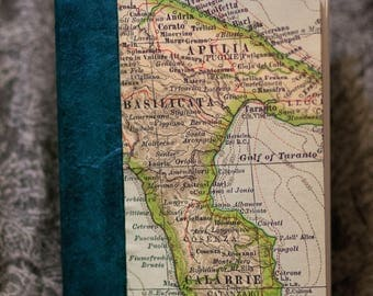 Sketchbook & Artist Journal with a Map of Italy